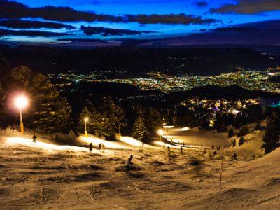 Ski nocturne à Chamrousse. © Isère Tourisme