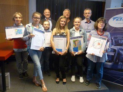 Les lauréats de l'édition 2016 du Concours des poètes en présence de Jean-Paul Trovero et Dominique Boitel. © Alexandra Moullec