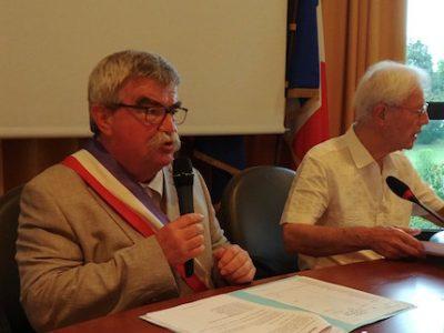 Daniel Boisset élu maire par le conseil municipal de Saint-Égrève le 26 juin 2017, après la démission de Catherine Kamowski, nouvelle députée LREM. DR