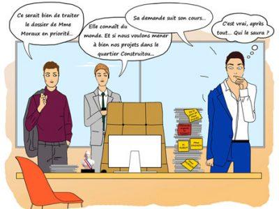 Clientélisme : c'est l'élu qui décide de faire remonter les dossiers sur le haut de la pile © Véronique Magnin - placegrenet.fr