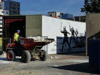 Destruction des locaux de Métrovélo Gare. © Alexandra Moullec