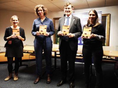 De gauche à droite : Hanna Stier, Alice Buffet, Patrick Curtaud et Hélène Piguet.© Joël Kermabon - Place Gre'net