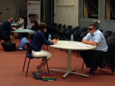 Jobdating dans le noir organisé à Grenoble par Talentéo cabinet de conseil en emploi spécialisé dans le handicap