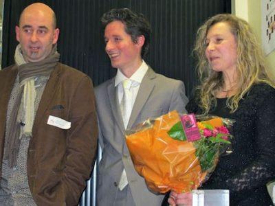 Remise du prix Pepit'Up de RhôneAlpes Pionnières à Muriel Beaudoing de Place Gre'net