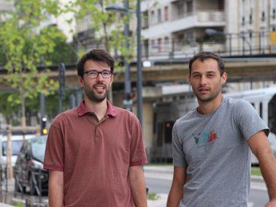 Ivan Mazel et Rémy Vigneron, cours Jean Jaurès à Grenoble. DR