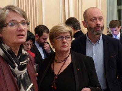 Eliane Giraud, sénatrice PS, tête de liste en Isère aux élections régionales. Stupéfaction devant les résultats au 1er tour.