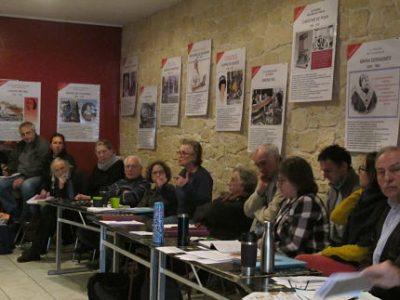UNE Première rencontre régionale, à Grenoble, des collectifs anti-linky (le compteur communicant d'Enedis), samedi 20 janvier 2018 au café associatif L'Engrenage © Séverine Cattiaux - Place Gre'net