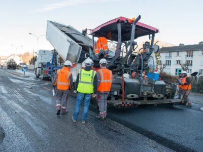 Travaux routiers. © Département de l'Isère