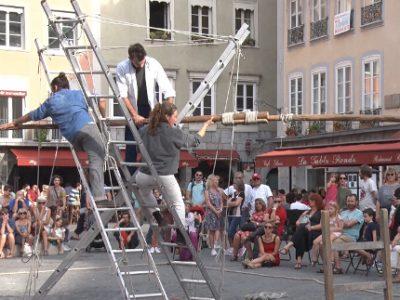 « Abscisse », une performance de Jordi Gali. © Joël Kermabon - Place Gre'net