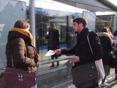 Le Mouvement des jeunes socialistes de l'Isère s'est mobilisé ce 18 janvier pour sensibiliser les étudiants à la « primaire citoyenne » de la gauche