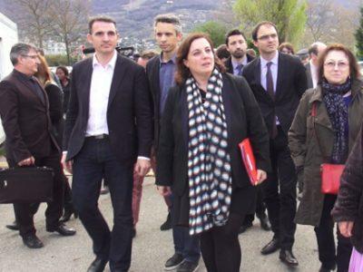 Avant la période de réserve gouvernementale, Emmanuelle Cosse, la Ministre du logement et de l'habitat durable était en visite à Grenoble ce jeudi 23 mars.