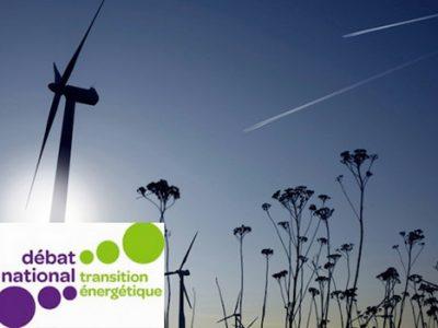 débat national sur la transition énergétique éolienne et trainées d'avions dans le ciel