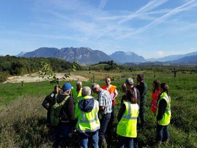 Verger conservatoire planté à Barraux par Granulats Vicat sur des terres récemment exploitées par la carrière. DR