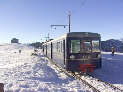 Le conflit social du mois de décembre a ralenti la circulation du tramway du Mont-Blanc. @ Wikimedia Commons - Lite