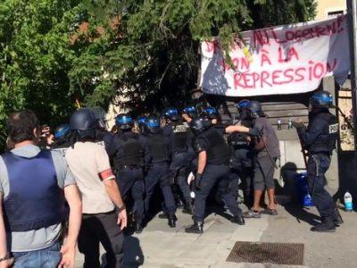 Expulsions des collectifs aux Eaux Claires par les forces de l'ordre © Collectif logement hébergement