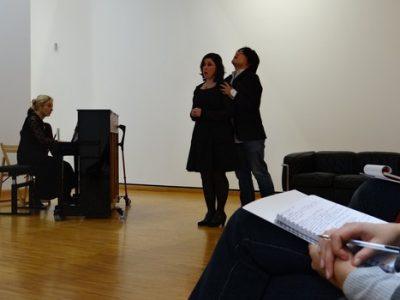 René Martin, directeur artistique de la Folle Journée lors de la présentation à la presse de la Folle Nuit Mozart, au Musée de Grenoble © Gaelle Sonnier - Musée en Musique