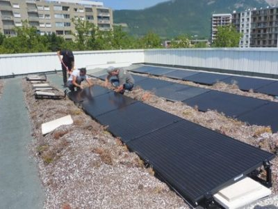 Une Alec panneaux solaires installation photovoltaique