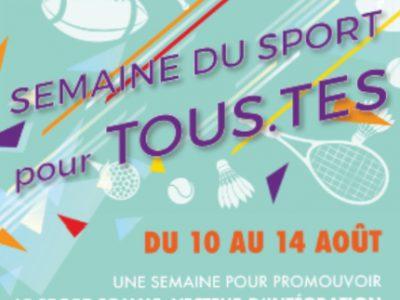 """La """"semaine du sport pour tous.tes"""