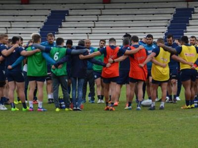 Une groupe FC Grenoble rugby. © Laurent Genin