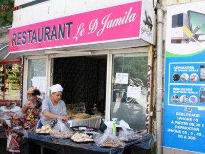 Le restaurant le Djamila, cours Berriat, prépare la soirée de rupture du jeûne. © Florent Mathieu - Place Gre'net