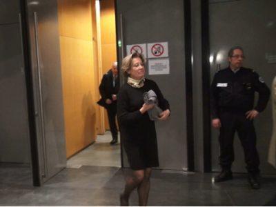 Marie-Christine Tardy à sa sortie de l'audience. © Joël Kermabon - Place Gre'net