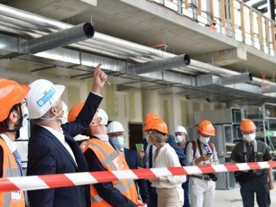 Visite de chantier du prochain (nouveau) campus Région du numérique, prévu pour ouvrir en novembre
