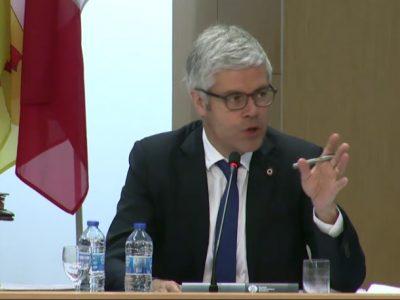 Laurent Wauquiez capture d'écran assemblée plénière conseil régional 14 juin 2018
