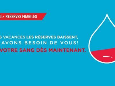 Campagne de communication de l'Etablissement français du sang, été 2018.