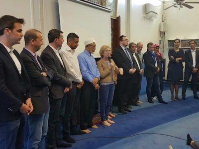 Pendant la campagne des législatives 2017, les élus se sont pressés en nombre à la mosquée Teissère- DR