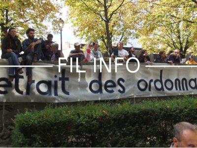 Les organisations CGT, FSU, Solidaires, Unef et UNL appellent à manifester ce 21 septembre à Grenoble contre les ordonnances réformant le code du travail.