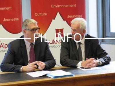 Jean-Pierre Barbier et Jean-Marie Bernard, les présidents de l'Isère et des Hautes-Alpes ont défini les contours d'une coopération renforcée