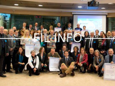 Jacques Adenot, président du Parc du Vercors, a reçu le 7 décembre 2016 le certificat de renouvellement de la Charte européenne du tourisme durable.