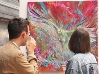 UNE - Lancement du Street Art Festival Grenoble © Elisa Montagnat - Place Gre'net