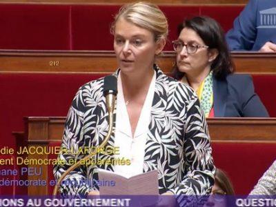 Élodie Jacquier-Laforge, députée de l'Isère, plaide à Bruxelles le