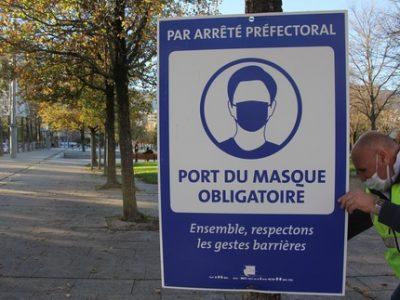 Échirolles déploie 250 panneaux pour rappeler l'obligation du port du masque sur son territoire