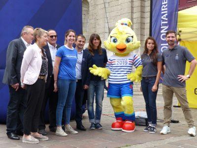 Lancement du programme de volontaires pour la Coupe du monde féminine 2019. Crédit photo : Samuel Ravier.