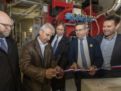 Jeudi 24 Octobre 2019,  Inauguration réseau de chaleur Gières,   ©Grenoble-Alpes Métropole-Lucas Frangella