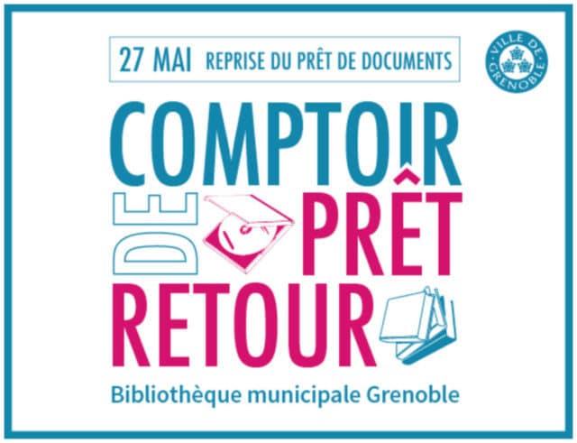 Comptoir de prêt retour : reprise du prêt de documents dans les bibliothèques municipales de Grenoble le 27 mai 2020